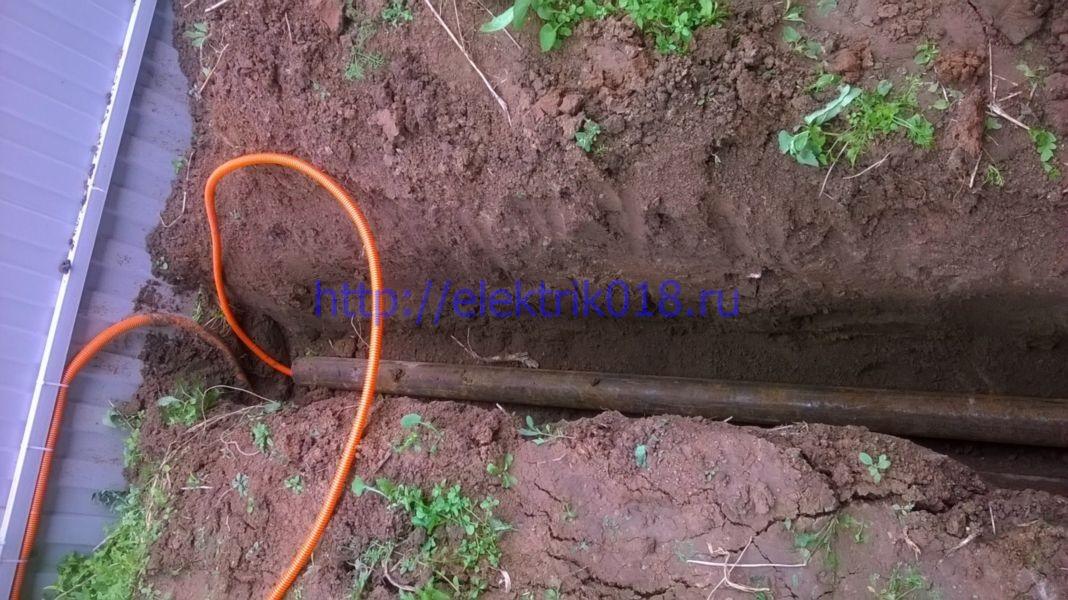 Прокладка кабеля под землю своими руками